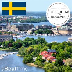 """Fall in love with the beautiful capital of Sweden, Stockholm, the """"Venice of the North"""" on a boat rental holiday! Now with a 10% discount! Offer ends 31/8/2016.  #sailing #holiday #sweden #stockholm #fun#sun #sea #relax #chill #family #friends#party #sunbathe #dream#hols #goals #amazing #travelling#aBoatTime"""