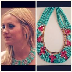 Carly Waddel from The Bachelor in this necklace for $48 from Veruca Salt