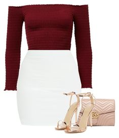 """""""Untitled #1606"""" by miss-eli-pink ❤ liked on Polyvore featuring Gucci and Nasty Gal"""