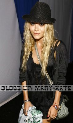 Mary-Kaye Olsen in a black-on-black look. #style #fashion #Olsentwins