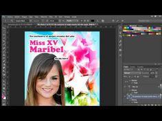 Photoshop Invitación XV años Portada de Revista