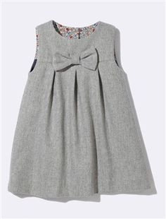 BABIES' FLANNELETTE DRESS WITH LIBERTY® PRINT LINING, Babies