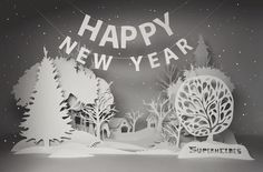 Happy New Year 2012 by Natali Strelchenko, via Behance #christmascard