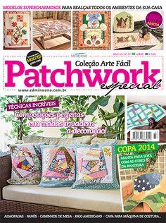 Artesanato - Apliquê - Patchwork : COL ARTE FACIL PATCHWORK ESP 037 - Editora Minuano