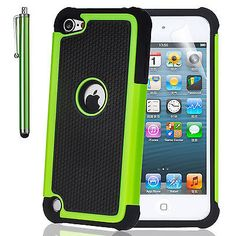 Hybrid Rugged Rubber Hard Case for Apple iPod Touch 5 5th Gen Hot Orange 50+SOLD