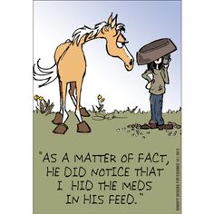 EquiMed Horse Health Matters Comic May 2013