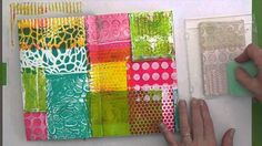 """Stamping with Gelli™  Ok this is a reason to need the smaller size Gelli plates. I ordered the 3x5"""" one - can't wait to try this."""