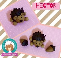 Hector, the Hedgehog fondant topper is hand sculpted and can be use for any occasion. Hector is about 2 inches long.  This listing does not include the acorns but if you like them Ill be happy to make them. If you would like a fondant cake topper of your own design or one you've seen somewhere else, we would love the opportunity to create them for you.  If you have any questions about our products, please do not hesitate to contact us.  Allergens: Our fondant cake toppers are made in a…