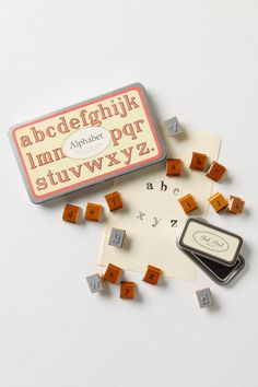 anthropologie alphabet stamp set $25