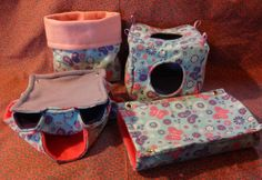 Rat Hammock 4 Pc Set Butterfly Flannel and Fleece by Sewingforall  This lady is a genius.