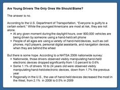 Are Young Drivers The Only Ones We Should Blame?