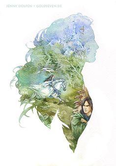 Aredhel the White by Jenny Dolfen Aragorn, Legolas, Fili Y Kili, John Howe, Dark Elf, Jrr Tolkien, Middle Earth, Lord Of The Rings, Narnia