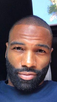 bald black men with beards Fine Black Men, Gorgeous Black Men, Handsome Black Men, Beautiful Men, Fine Men, Black Women, Black Men Haircuts, Black Men Hairstyles, Men's Hairstyles