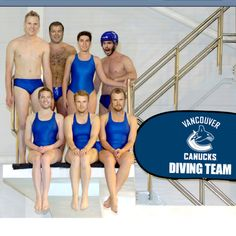 Vancouver Canucks diving team - this just makes me smile! Boston Bruins Hockey, Stanley Cup Playoffs, Win Or Lose, Vancouver Canucks, Love My Boys, Hockey Teams, Hockey Stuff, National Hockey League, New York Rangers