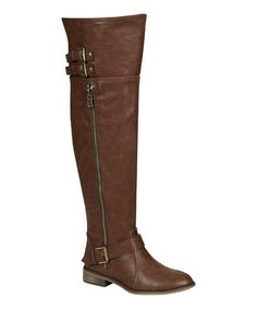 Take a look at this Light Brown Clayton Over-the-Knee Boot by Breckelle's on #zulily today!