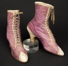 Lace-up boots, 1875-1879.