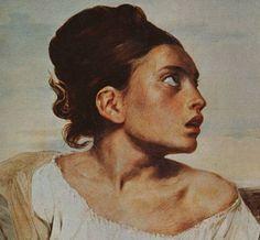 The Orphan Girl at the Cemetery Artist: Eugene Delacroix Start Date: 1823 Completion Date:1824 Style: Romanticism Genre: portrait Technique: oil Material: canvas Dimensions: 66 x 54 cm Gallery: Musée du Louvre, Paris, France