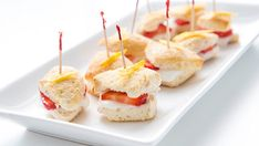 Who needs a whole shortcake when you can eat teeny bites on a toothpick? This quick and easy recipe makes quick work of a classic treat, in delicious bite-sized form for brunch!