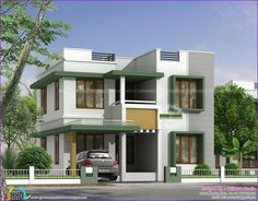 House designs further 1400 sq ft house plans. on 1400 square foot . Flat Roof House Designs, House Front Design, Duplex House Design, Design Apartment, Home Building Design, Building A House, Architecture Design, Residential Architecture, Independent House