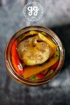 misto di peperoni e melanzane