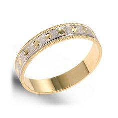 14K white Gold Honeycomb Design Engagement Band Mens Wedding
