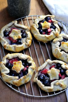 Haniela's: Rustic 4th of July Galettes