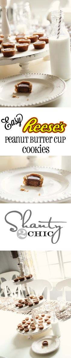 Easy Reese's Peanut Butter Cup Cookies #chocolates #sweet #yummy #delicious #food #chocolaterecipes #choco