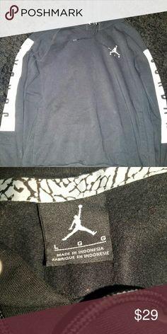 Jordan hoody Mens jordan hoody good condition black and white in color size L Jordan Shirts