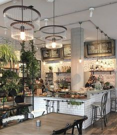 """4,896 Likes, 52 Comments - London Coffee shops (@londoncoffeeshops) on Instagram: """"Pretty interiors of @thelocals_cafe . Photo by @ana_balic"""" #restaurantdesign"""