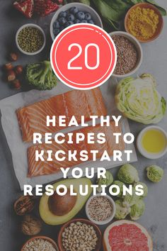 It's my New Year's resolution this year too! If you're one of those people who are trying to lose weight, eat healthy, or drop the holiday weight, then this post is for you. I've rounded up 20 healthy ideas for breakfast, lunch, dinner and even dessert! You can add these to your Pinterest board or grocery list for this week's menu. Eat Healthy, Healthy Recipes, Trying To Lose Weight, Pinterest Board, Food Inspiration, Feel Good, Breakfast Recipes, Holiday, Christmas