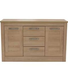 Heart of House Hartpury 2 Door 3 Dwr Sideboard - Oak Effect.