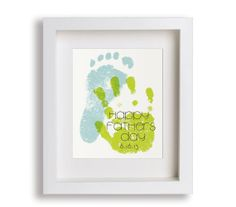 Fathers Day Art Print - Personalized Hand and Foot Prints - Gift Idea, Personalized Fathers Day Gift, Gift for Dad, Hand Print, Foot Print via Etsy