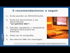 Netiqueta en Internet - YouTube