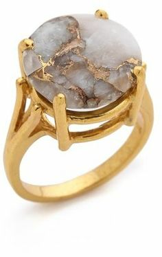 Copper veined calcite  Heather Hawkins Angel Ring