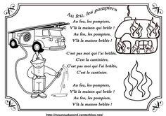 comptine au feu les pompiers illustrée par nounoudunord. Imprimez le coloriage cliquez : .acrobat.com. Liste de mes comptines : -comptines-a-colorier- ************************ . je vous demande ...