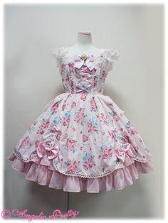 Lolibrary | Angelic Pretty - JSK - Eternal Rose Bouquet Dress JSK