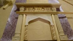 Downton Abby style fireplace custom made by Deborah 59