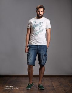 T-Shirt: John Jean Short Pants: Jerry Discover Men's collection at www.staff-jeans.com/look-book-men/