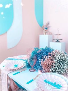Turquoise and Pink Mermaid-inspired Guest Table from a Turquoise and Pink Mermaid Birthday Party on Kara's Party Ideas | KarasPartyIdeas.com (25) Mermaid Party Decorations, Mermaid Parties, Balloon Decorations, Birthday Party Decorations, Birthday Parties, Mermaid Balloons, Mermaid Kids, Sprinkle Party, Mermaid Cakes