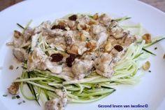 Gezond leven van Jacoline: Courgettepasta met kip