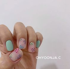 Short Gel Nails, Uv Gel Nails, Diy Nails, Cute Nails, Pretty Nails, Acrylic Nails, Pink Nail Art, Yellow Nails, Plain Nails