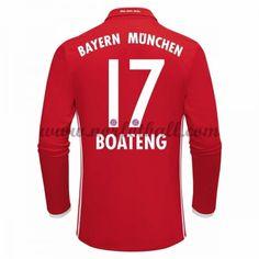 Billige Fotballdrakter Bayern Munich 2016-17 Boateng 17 Hjemme Draktsett Langermet