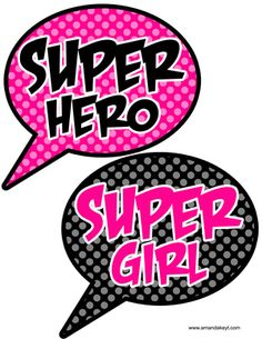 Speech Bubbles from Pink Super Girl Set