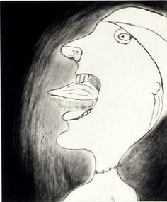 Louise Bourgeois, Madeleine, 1999, drypoint.