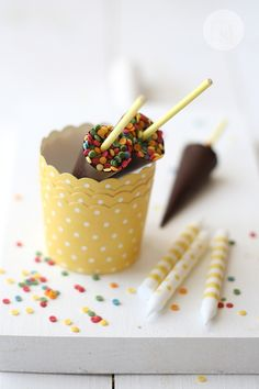 homemade chocolate umbrellas