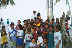Opetaia and Children on Nukufetau, Tuvalu