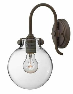 Hinkley 3174 Congress Round Clear Glass Wall Sconce Lighting Fixture - 13 Inches Tall - HIN-3174