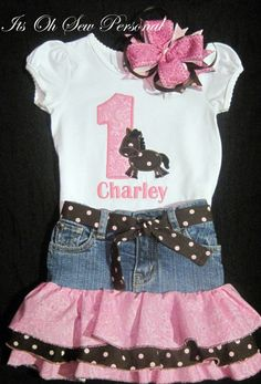 Cowgirl birthday outfit by Itsohsewpersonal on Etsy, $68.00
