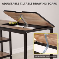 Read our page for lots more regarding this breathtaking diy table Diy Home Furniture, Steel Furniture, Furniture Makeover, Furniture Design, Furniture Ideas, Smart Furniture, Drawing Desk, Simple Desk, Decoration