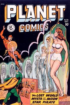 "gameraboy: ""Planet Comics #56 (1948), cover by Joe Doolin """